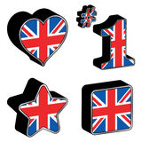 Great britain icons Royalty Free Stock Photo