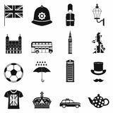 Great Britain icons set, simple style Royalty Free Stock Image