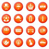 Great Britain icons vector set Royalty Free Stock Images