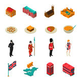 Great Britain Isometric Touristic Set Stock Photography