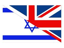 Great Britain and Israel flags. Vector file of Great Britain and Israel flags stock illustration