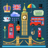 Great Britain Kingdom, London Capital. Color vector flat icon set and illustrations Great Britain Kingdom, London Capital Royalty Free Stock Photos