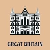 Great Britain landmark flat icon Stock Image