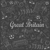 Great Britain line art design vector illustration Royalty Free Stock Images