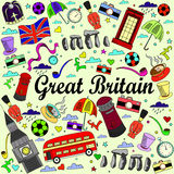 Great Britain line art design vector illustration Stock Images