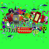 Great Britain line art design vector illustration Royalty Free Stock Photography