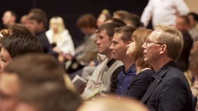 Great Britain - London, 10 December 2018: Close up for interested audience at a business seminar listening to a speaker