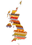 Great Britain map Stock Photography