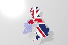 Great Britain Map. Pure without text Royalty Free Stock Image