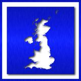 Great britain map in white background. Great britain map on white background Stock Image
