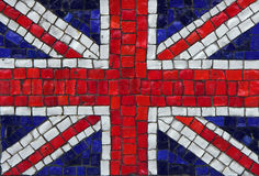 Great britain mosaic flag. Old vintage mosaic great britain flag with texture royalty free stock photo