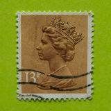 Great Britain postage stamp. 1982//1993 colorful Queen Elizabeth postage stamp Stock Photo