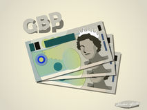 Great britain pound  money paper vector design Royalty Free Stock Photos