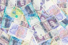 Great Britain pounds background stock photos