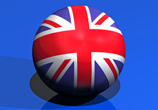 Great britain round flag Stock Photo
