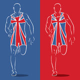 Great Britain runner. Vector illustration of Great Britain runner Stock Photography