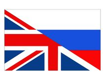Great Britain and Russia flags. Vector file of Great Britain and Russia flags vector illustration