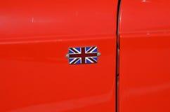 Great Britain's flag. On oldtimer car Stock Photos