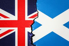 Great Britain and Scotland, exit and independence concept, 3D re Stock Image