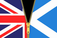 Great Britain and Scotland, exit referendum concept Royalty Free Stock Images
