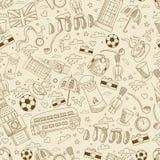 Great Britain seamless vector illustration Stock Photos
