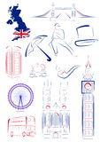 Great Britain sights and symbols Royalty Free Stock Images