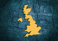 Great Britain state map in concrete textured frame Royalty Free Stock Photos