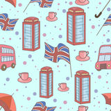 Great Britain symbols  seamless pattern Royalty Free Stock Image