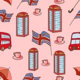 Great Britain symbols  seamless pattern Royalty Free Stock Photos