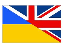 Great Britain and Ukraine flags. Vector file of Great Britain and Ukraine flags vector illustration