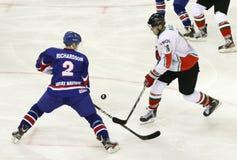 Great Britain vs. Hungary IIHF World Championship ice hockey mat Royalty Free Stock Photography
