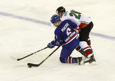 Great Britain vs. Hungary IIHF World Championship ice hockey mat Royalty Free Stock Image
