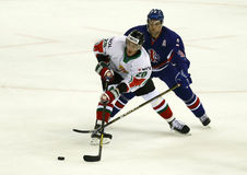 Great Britain vs. Hungary IIHF World Championship ice hockey mat Royalty Free Stock Photography