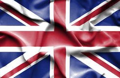 Great Britain waving flag royalty free illustration