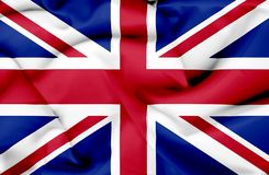 Great Britain waving flag vector illustration