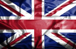 Great Britain waving flag stock illustration