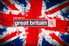 Great Britain - web search bar glossary term Stock Images