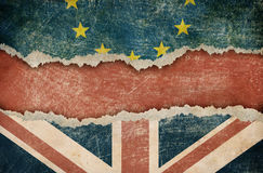 Great Britain withdrawal from European union brexit concept Royalty Free Stock Photos