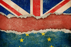 Great Britain withdrawal from European union brexit concept Royalty Free Stock Images