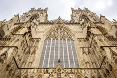 Great british cathedral. Outside building shot of york cathedral in england Royalty Free Stock Image