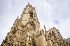 Great british cathedral. Outside building shot of york cathedral in england Stock Photography
