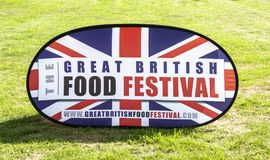 The Great British Food Festival sign at Bowood House in Wiltshire royalty free stock images