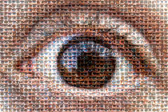 """""""the great brother"""" the mosaic eyes Stock Image"""