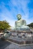 The great Buddha Daibutsu is a bronze statue of Amida Buddha. The great Buddha Daibutsu is a bronze statue of Amida Buddha at Kotokuin temple in Kamakura Royalty Free Stock Photos