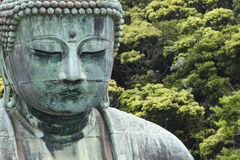 The Great Buddha (Daibutsu) on the grounds of Kotokuin Temple in Royalty Free Stock Photography