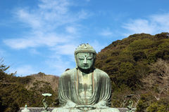 Great buddha (Daibutsu) sculpture Stock Image