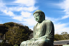 Great buddha (Daibutsu) sculpture Stock Photos