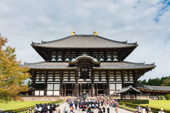 Great Buddha Hall at Tōdai-ji temple (Daibutsu) in Nara Stock Photos