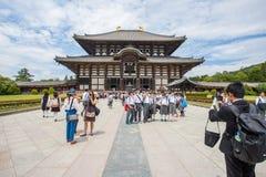 The Great Buddha Hall at Todai-ji Stock Photos
