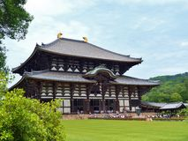 The Great Buddha Hall at Todai-ji temple. Stock Image